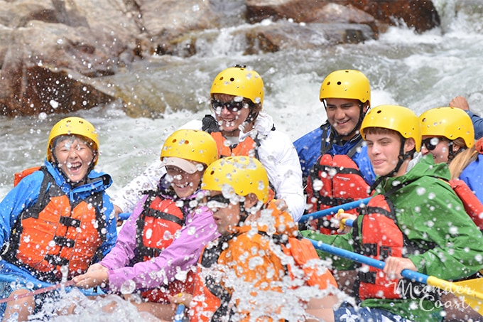 Rafting Colorado's Arkansas River with teens. Perfect for new rafters! | Meander & Coast
