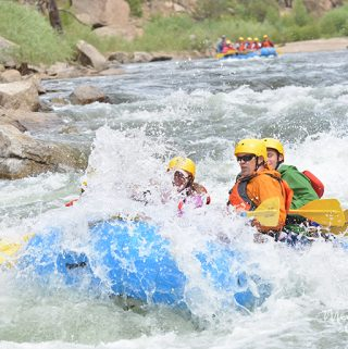 Arkansas River Whitewater Rafting. Browns Canyon is a fantastic rafting trip for teens! | Meander & Coast