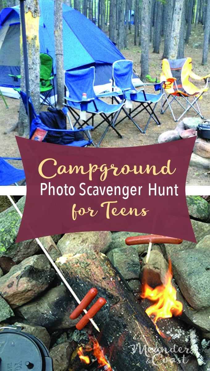 This will be great for our next trip! Camping photo scavenger hunt for teens. | Meander & Coast