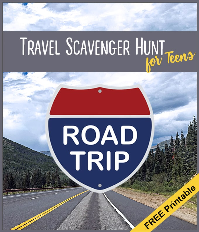 What a great way to limit electronics on road trips! Free printable road trip scavenger hunt for teens. | from Meander & Coast.com