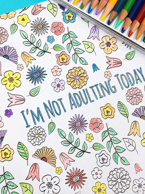A Case of the Mondays snarky adult coloring book from Carla Schauer Studio