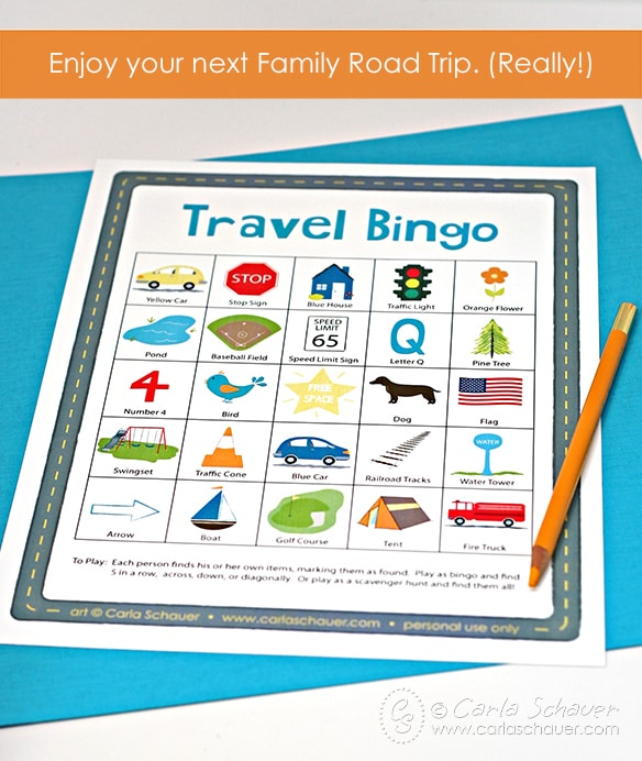 Free Printable Travel Bingo for Kids. | Meander & Coast