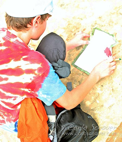Scavenger hunts make great fun camping activies for tweens and teens. Free printables from Meander & Coast