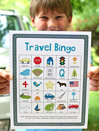 This is such a cute idea! Free printable travel bingo game for kids from MeanderAndCoast.com