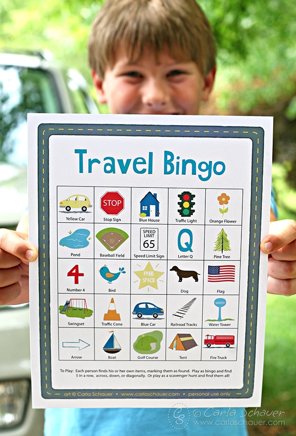 photo regarding Travel Bingo Printable identified as Highway Vacation Generate Bingo for Little ones Meander Coastline