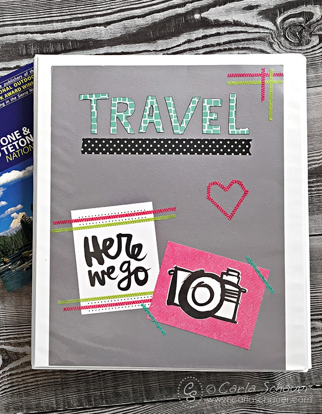 Great Idea! Make a travel binder to keep printable activities together.