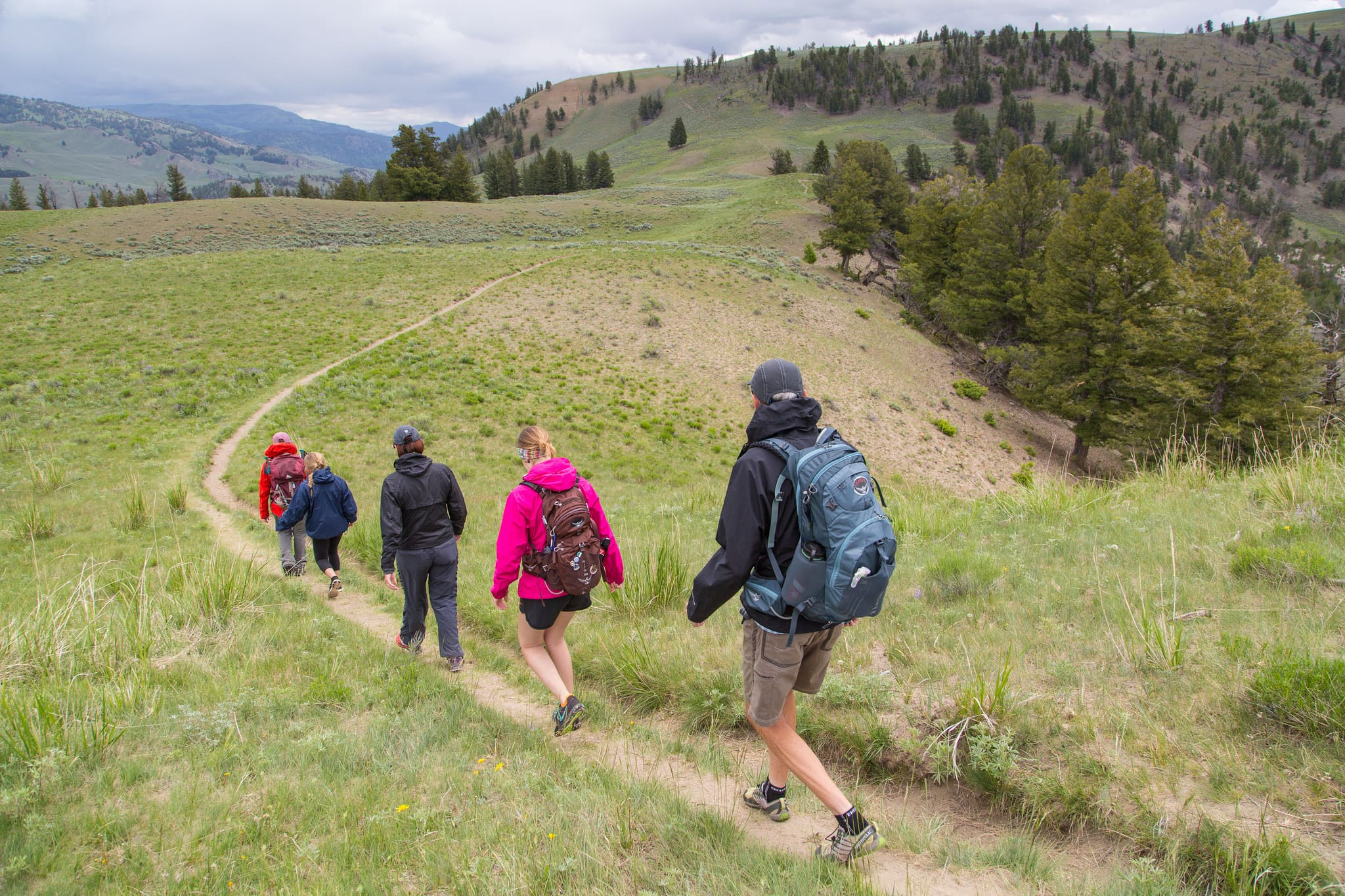 Day Hiking in Yellowstone National Park. | Must See Yellowstone Attractions that aren't Old Faithful. Meander & Coast #yellowstone #nationalpark #yellowstoneattractions #thingstosee #wyoming #hiking #dayhike