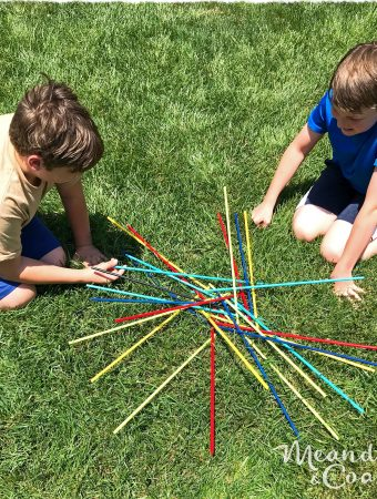 Make a giant outdoor game of pick up sticks. Quick and easy camping craft. Meander & Coast